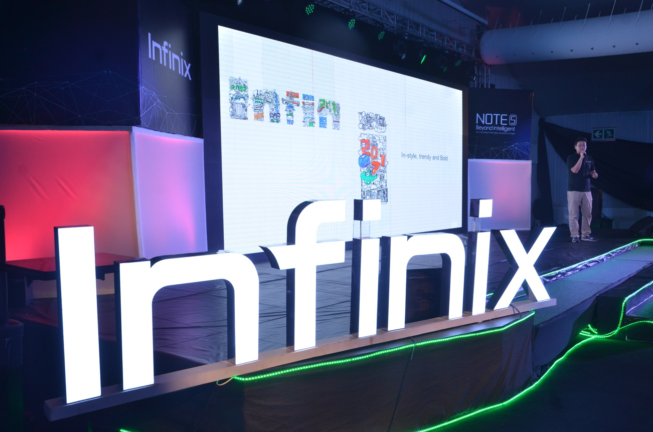 "Infinix unveils ""Beyond Intelligent"" . Note 5 . Android One"