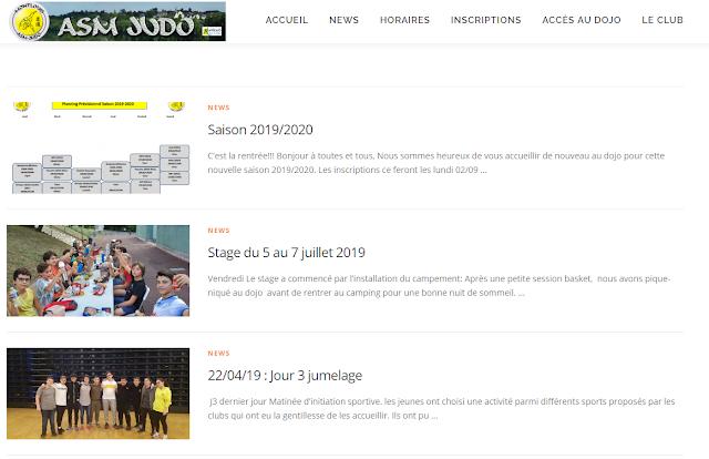 Nouveau site web asmjudo.fr