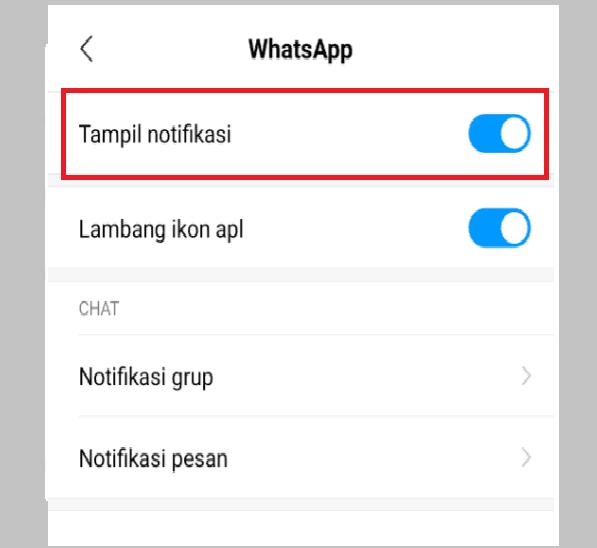 Atur Notifikasi Pesan Masuk WhatsApp