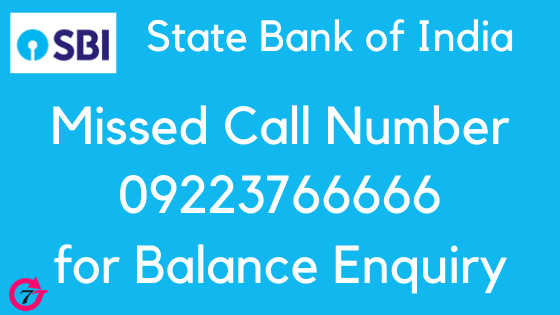 SBI balance enquiry number