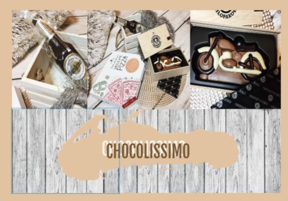 Butelka piwa i pizza | Produkty firmy Chocolissimo