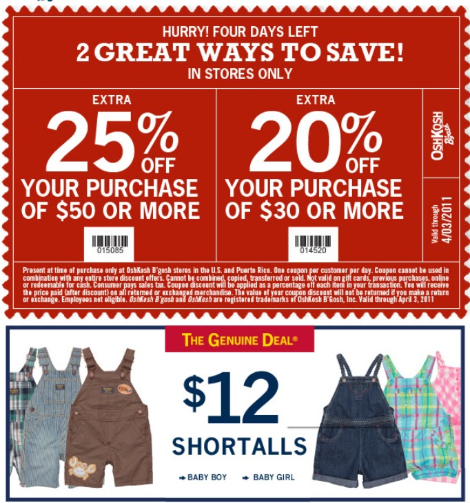 graphic about Osh Coupons Printable named Osh kosh b gosh printable coupon codes - Brunos livermore coupon codes