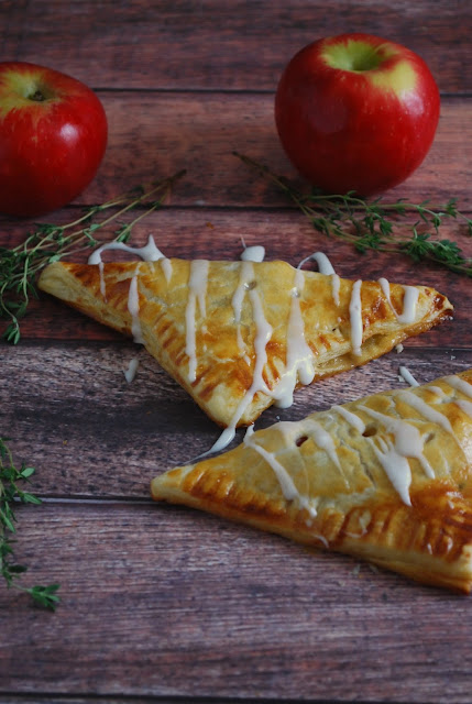 Apple Turnovers with Honey and Thyme are an amazing easy and delicious fall treat! Bake them today!