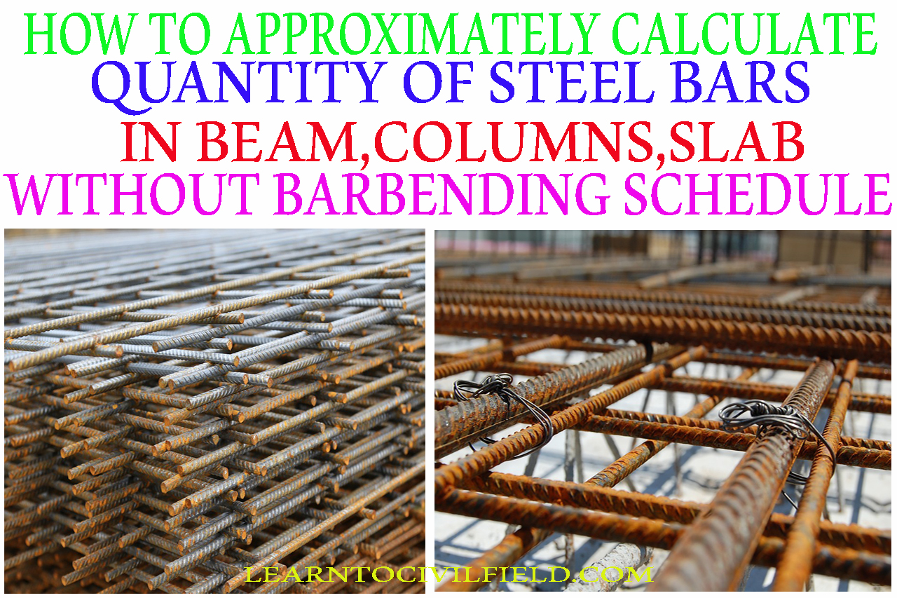 HOW TO APPROXIMATELY CALCULATE QUANTITY OF STEEL BARS IN BEAMS