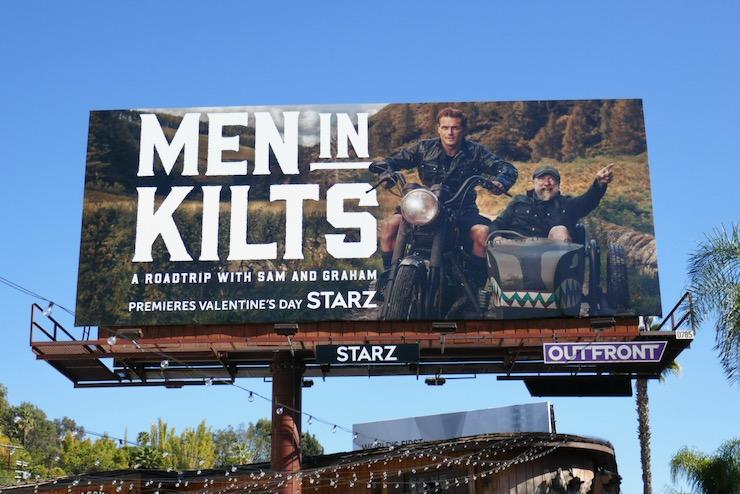 Men in Kilts sidecar billboard