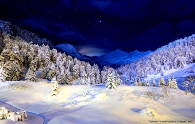 Beautiful Snowfall Background Images