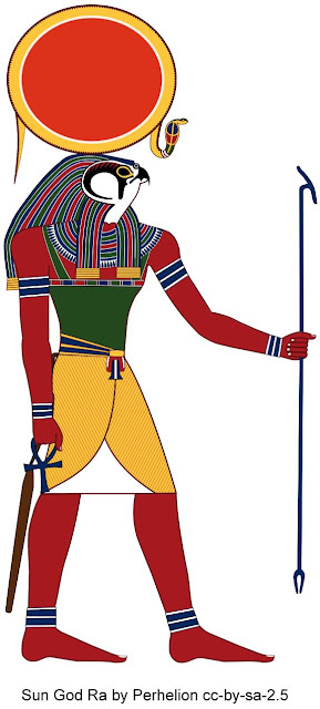 Ancient Egyptian Sun God Ra or Re