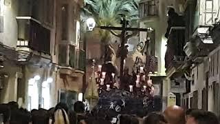 Santísimo Cristo del Perdón por la Calle Pelota. Semana Santa de Cádiz 2019