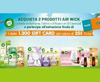 Concorso Vinci card Tigotà 2021 - Air Wick : 1.300 premi da 25€