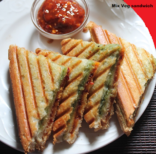 mix veg sandwich