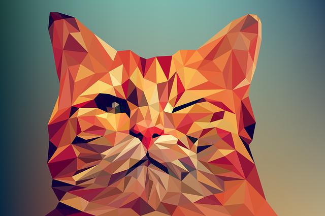 صورة قطة مصممة ببرنامج أدوبي إليستريتور