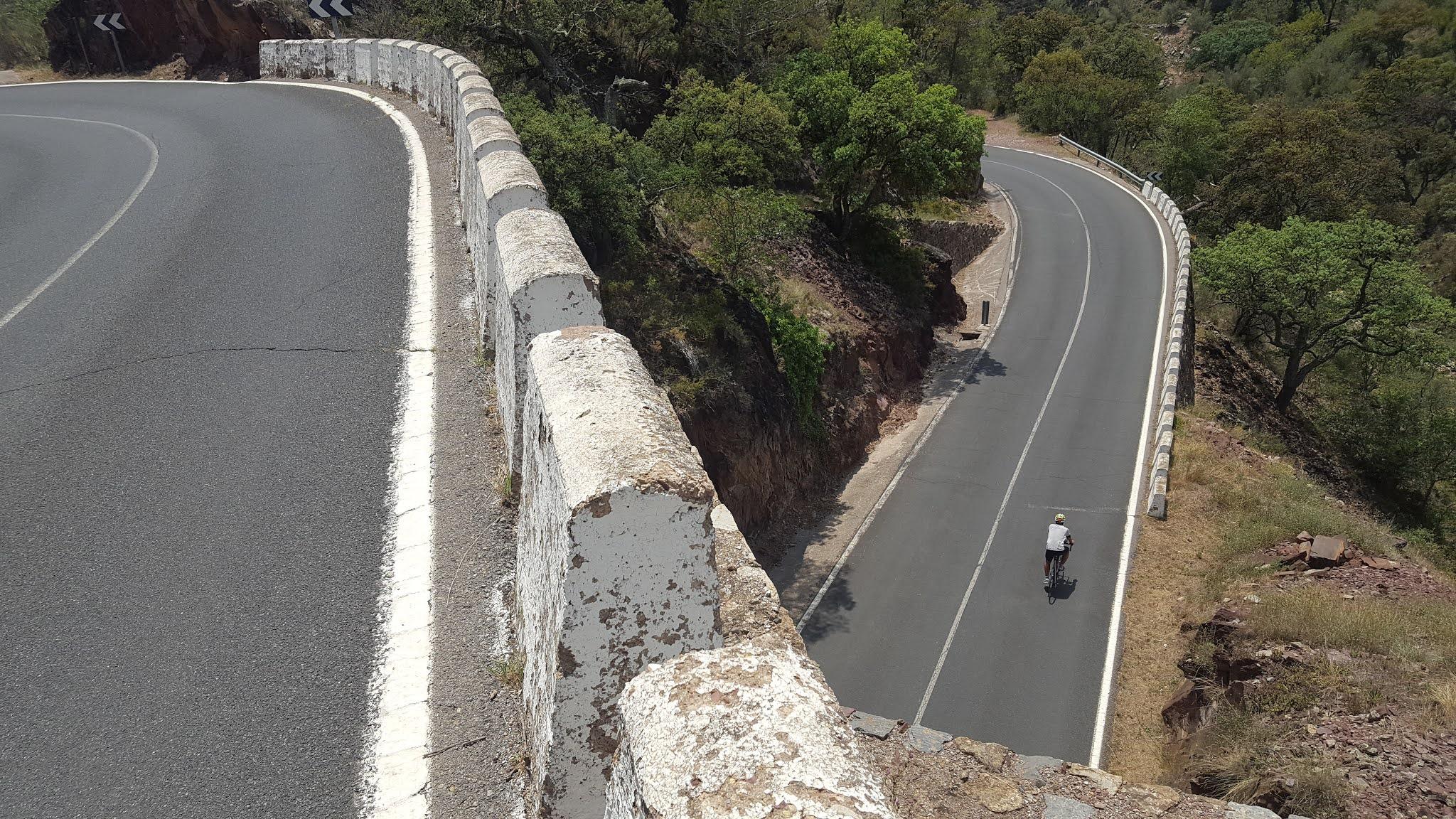 Corkscrewn tunnel on the Eslida-Aín CV-223 road, Castellón, Spain