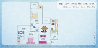 1080-sq.ft.-2bhk-study-floor-plan