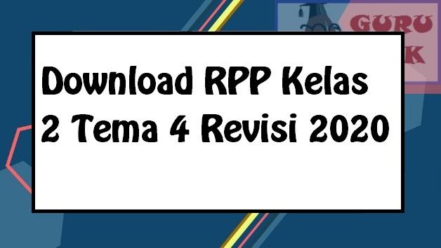gambar contoh RPP 1 lembar kelas 2 tema 4