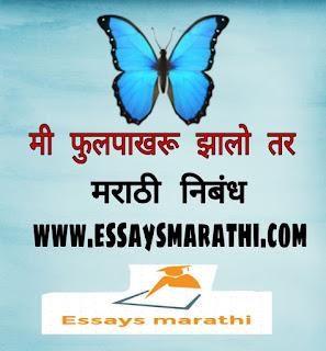 mi fulpakharu zalo tar marathi nibandh - मी फुलपाखरु झालो तर मराठी निबंध