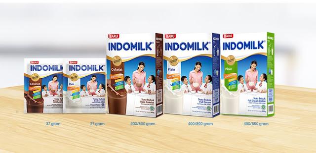 Susu Indomilk OptiNutri tersedia dalam 3 varian rasa