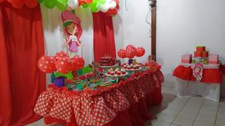 festa da moranguinho simples