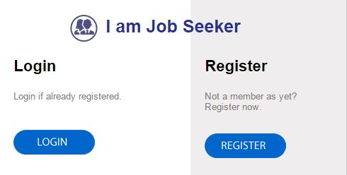 Register for job seekers