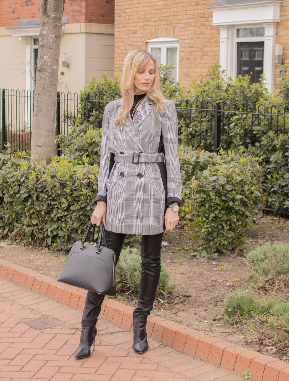 How to style a longline belted blazer