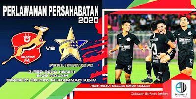 Live Streaming Kelantan vs Perlis United FC Friendly Match 3.2.2020