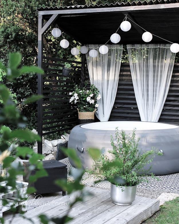 Garten Poolhaus DIY für Whirlpool