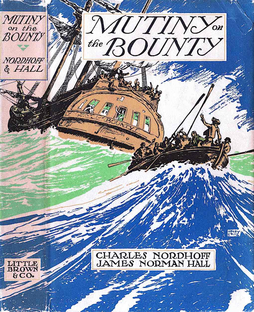 a Henry C. Pitz book jacket illustration for Mutiny on the Bounty