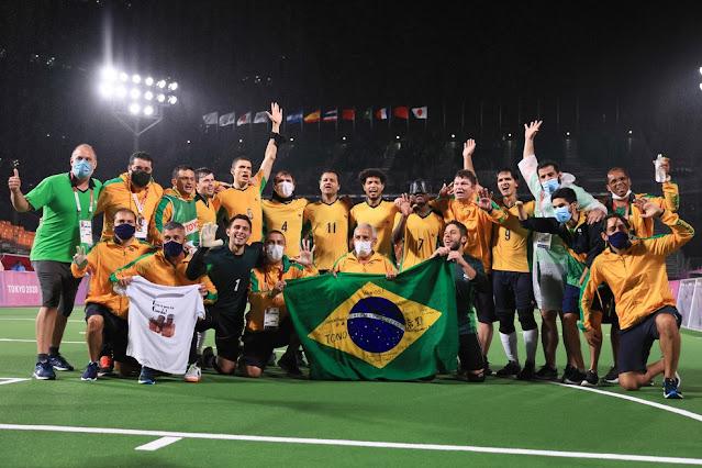 Brasil vence Argentina e conquista o penta paralímpico no futebol de 5