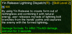 naruto castle defense 6.0 Tikudo madara Sage Art Yin Release Lightning Dispatch detail