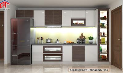tu bep, tủ bếp, tủ bếp acrylic, tủ bếp hiện đại