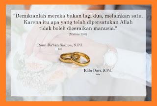 kata-kata undangan pernikahan kristen simple
