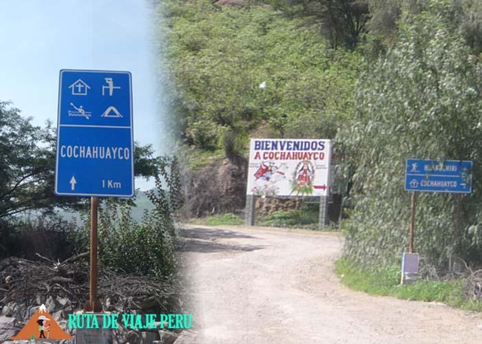 ENTRADA COCHAHUAYCO