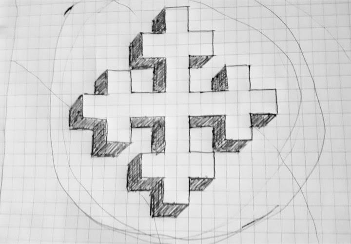 Greek Cross Drawing