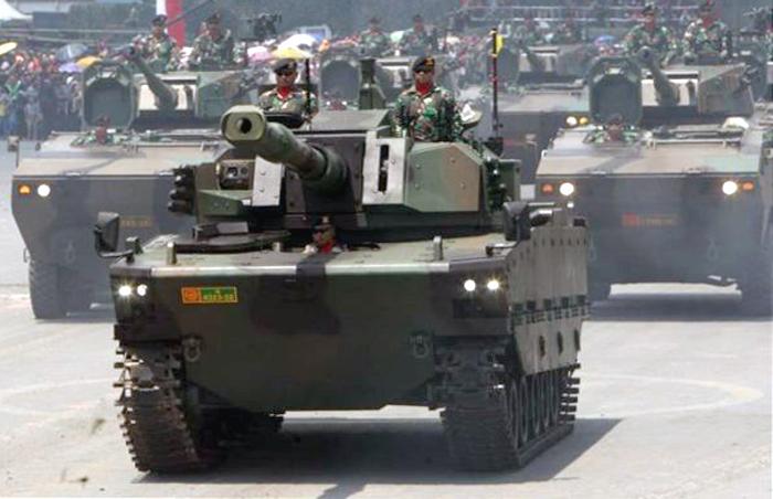 Prototype Tank Medium Pindad-FNSS di Cilegon, Banten.