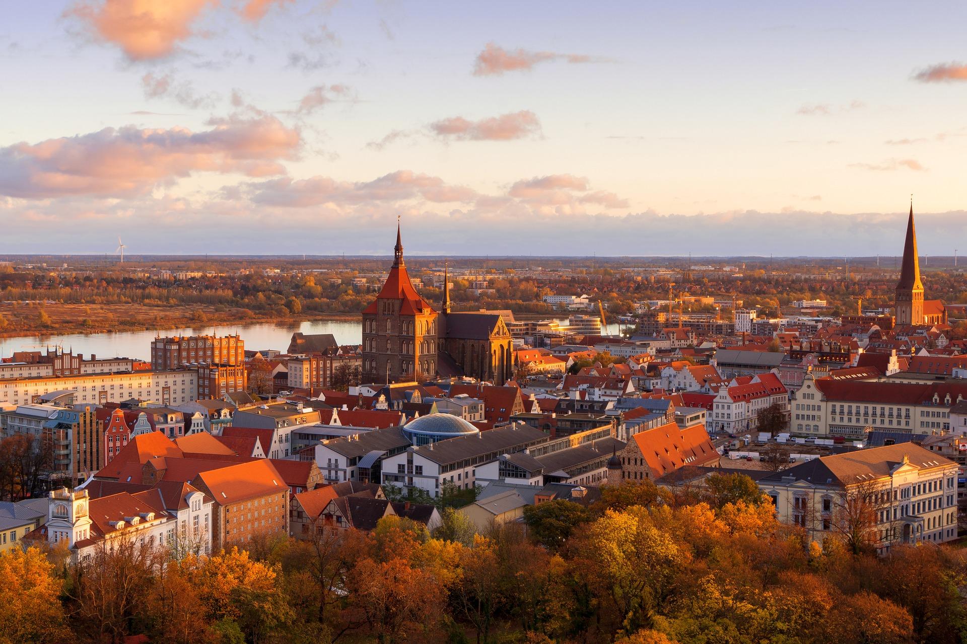 Rostock City Sunrise
