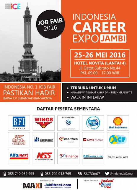 Indonesia Career Expo Jambi 2016