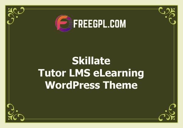 Skillate - Tutor LMS eLearning WordPress Theme (Themeum) Free Download