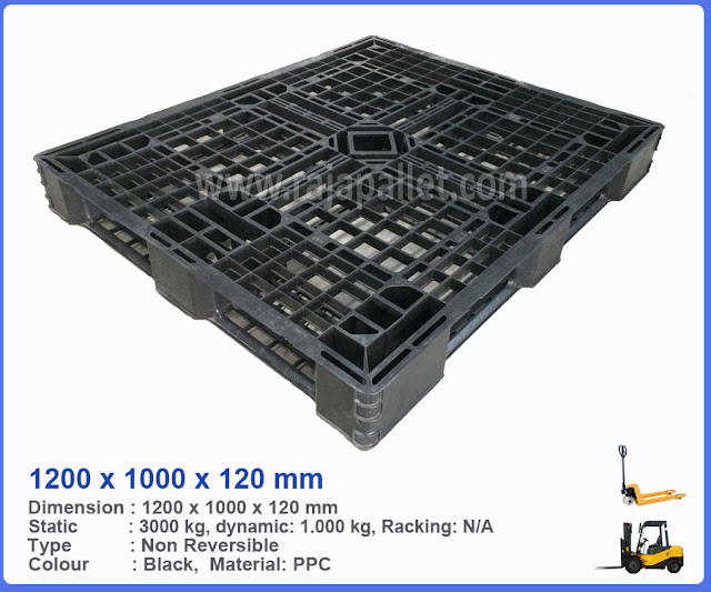 Pallet Plastik Bekas 1200 x 1000 x 120 mm