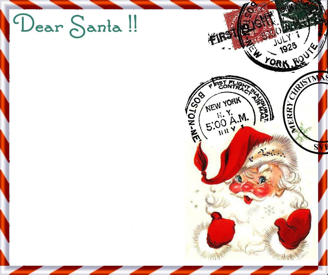 Papeles Para Escribir La Carta A Papa Noel O Santa Clauss