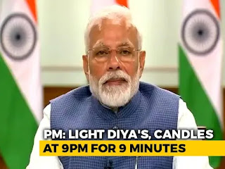 Message to the nation by PM, COVID !9 new message, PM calls  to lighjt diyas on sunday night