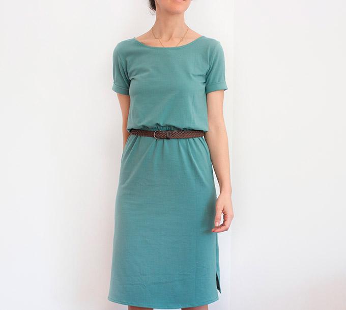 como-hacer-un-vestido-camiseta-fruncido-cintura