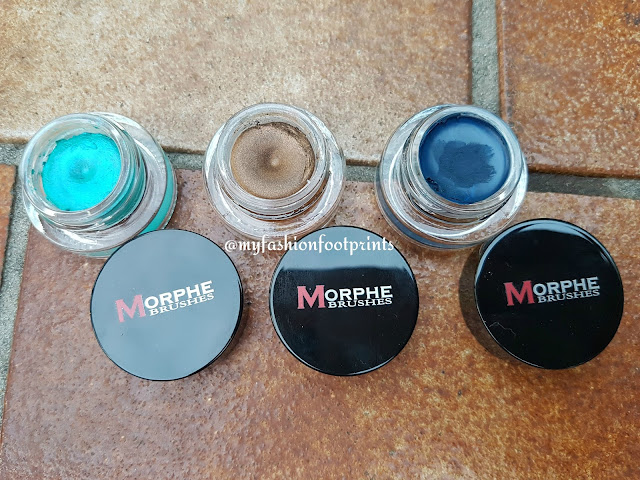 Morphe Cream eyeshadows and Gel Eyeliner in Slick, Blew And Dusk - Review, Swatches & FOTD