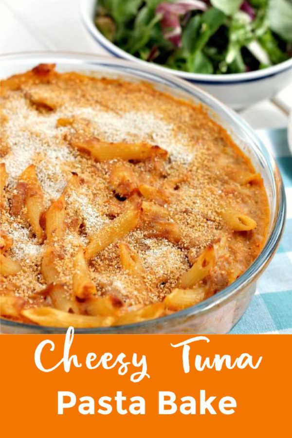 Cheesy Tuna Pasta Bake