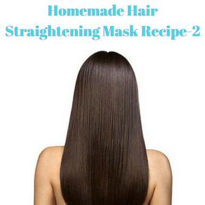 Homemade Hair Straightening Mask