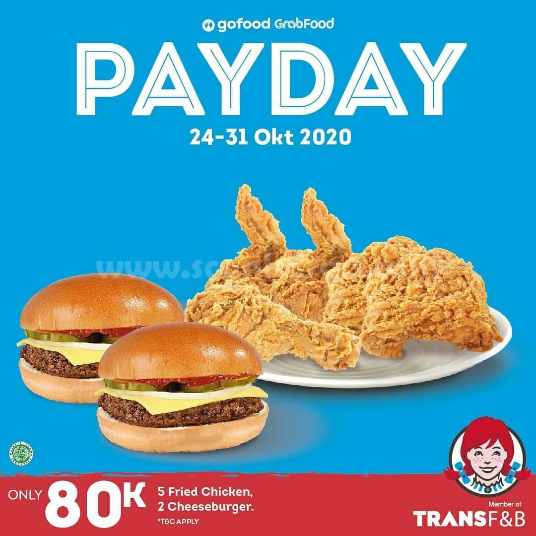 Promo Wendy's PAYDAY - Paket Laper buat Rame Rame harga cuma Rp 80.000