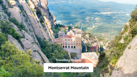 Montserrat Mountain - Day Trip to Mysterious Montserrat Mountains from Barcelona  Spain. September, 2019