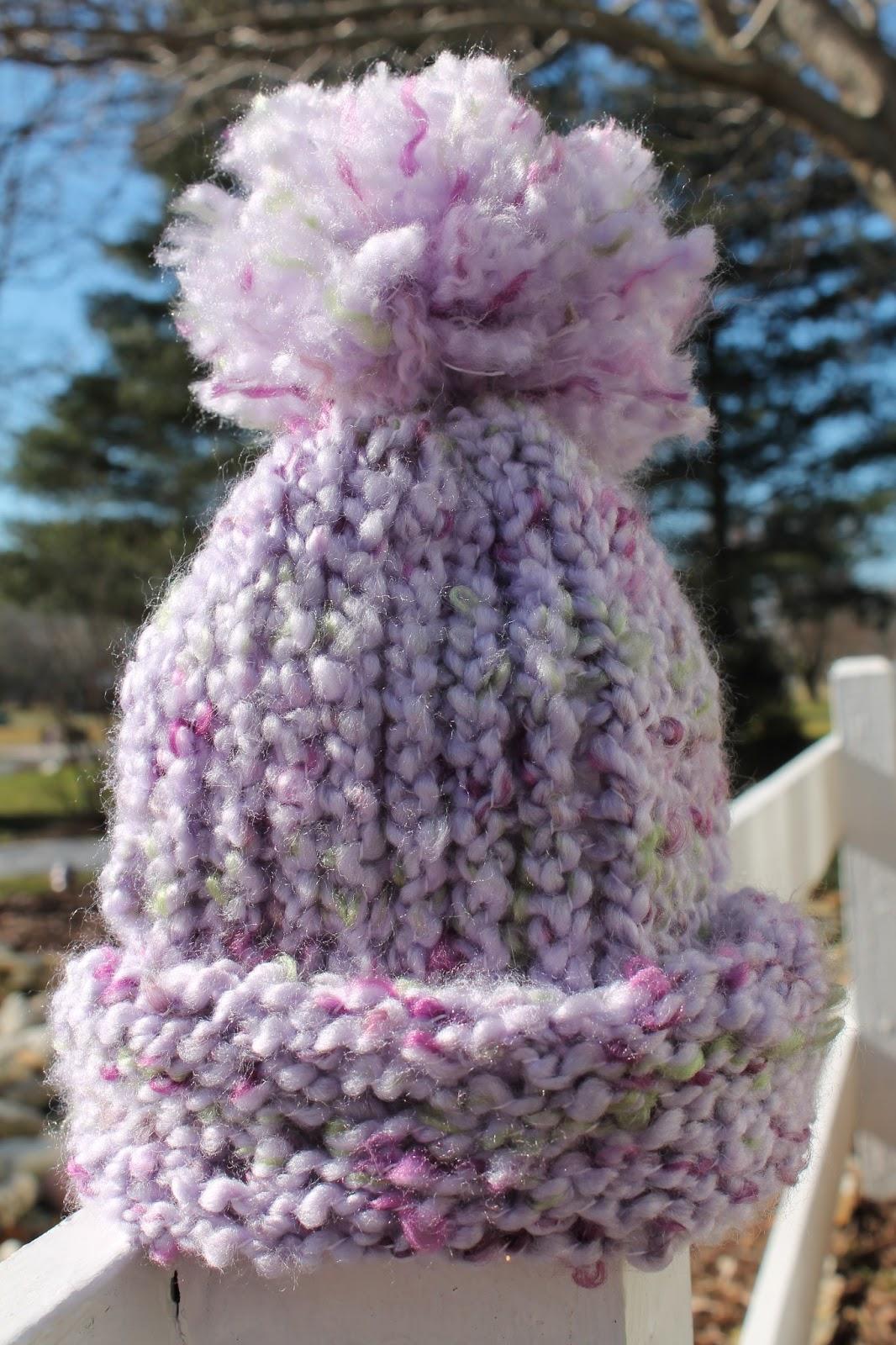 My Creative Mommy  Knitting A Hat On A Loom (and adding a pom pom!) 5ebd986f8d3