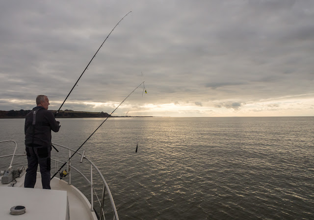 Photo of Phil fishing in the Solway Firth