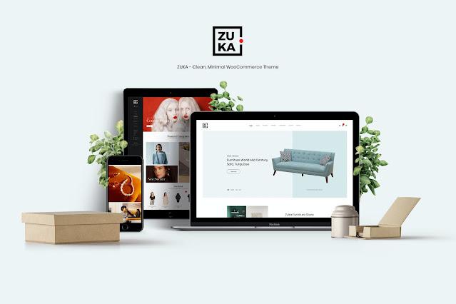 Download Gratis Zuka - Clean, Minimal WooCommerce Theme