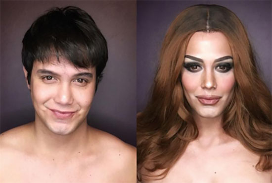 Paolo Ballesteros transforms into Miss Colombia Ariadna Maria Gutierrez