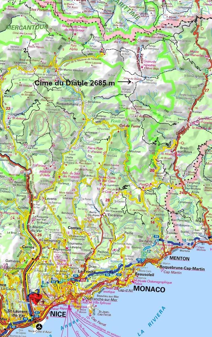 Location of Cime du Diable